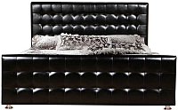 Двуспальная кровать ГрандМанар Кимберли КИ-018.04 180x200 (Unica Black) -