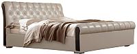 Двуспальная кровать ГрандМанар Чинзано ЧИ-004.03 160x200 (Unica Sufle/Brown) -