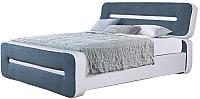 Двуспальная кровать ГрандМанар Афина АФ-040.03 160x200 (Unica White/Aquarelle 69) -