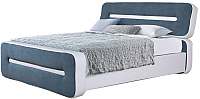 Двуспальная кровать ГрандМанар Афина АФ-040.04 180x200 (Unica White/Aquarelle 69) -