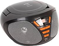 Магнитола BBK BX180U (черный/оранжевый) -