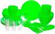 Набор пластиковой посуды Berossi Picnik ИК 06238000 (салатовый) -