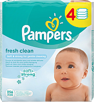 Влажные салфетки Pampers Baby Fresh Clean (4x64шт) -