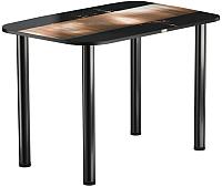 Обеденный стол Васанти Плюс ПРФ 120x80 (черный/112) -