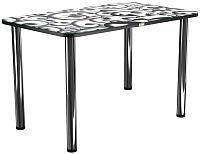 Обеденный стол Васанти Плюс ПРФ 120x80 (хром/122) -