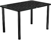 Обеденный стол Васанти Плюс ПРФ 120x80 (черный/Жасмин Ч) -