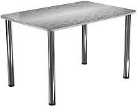 Обеденный стол Васанти Плюс ПРФ 120x80 (хром/Жасмин А) -