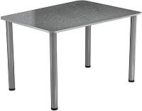 Обеденный стол Васанти Плюс ПРФ 110x70 (алюминий/Капли серые) -
