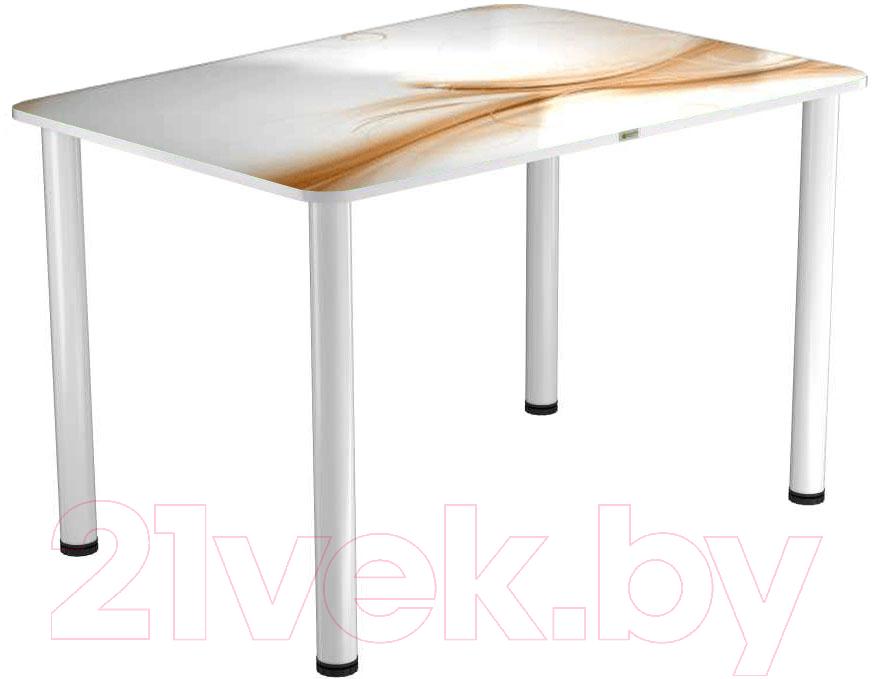 Купить Обеденный стол Васанти Плюс, ПРФ 110x70 (белый/113), Беларусь