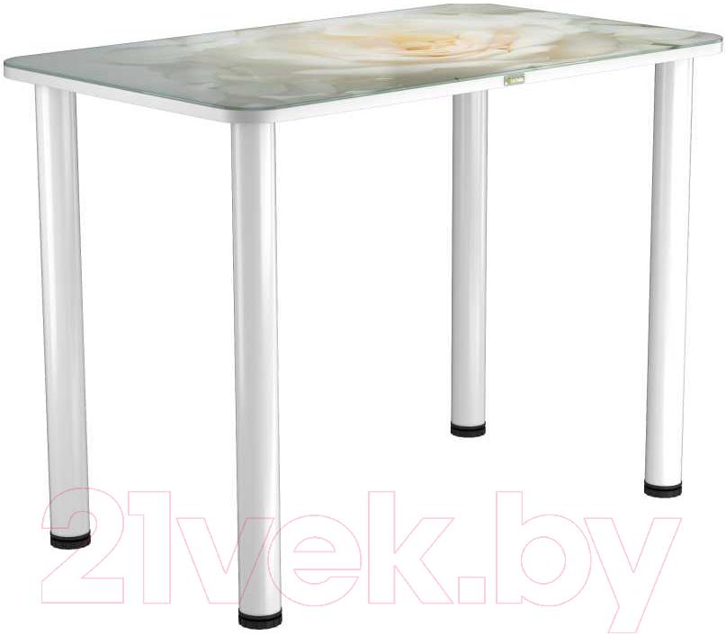Купить Обеденный стол Васанти Плюс, ПРФ 110x70 (белый/120), Беларусь