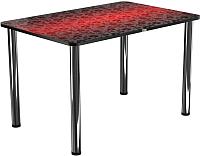 Обеденный стол Васанти Плюс ПРФ 110x70 (хром/Жасмин ЧК) -
