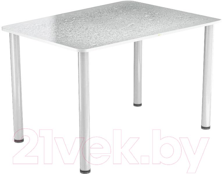 Купить Обеденный стол Васанти Плюс, ПРФ 110x70 (белый/Капли белые), Беларусь