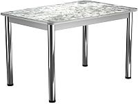 Обеденный стол Васанти Плюс ПРФ 110x70/3/ОА (хром/117) -