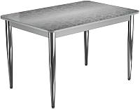 Обеденный стол Васанти Плюс ПРФ 110x70/3К/ОА (хром/Жасмин А) -