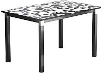 Обеденный стол Васанти Плюс Васанти-2 120x80/ОЧ (черный/хром/122) -