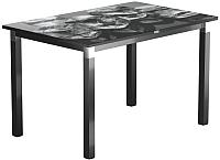 Обеденный стол Васанти Плюс Васанти-2 120x80/ОЧ (черный/хром/98) -