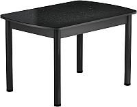 Обеденный стол Васанти Плюс БРФ 120/152x80Р/ОЧ (черный/Капли черные) -