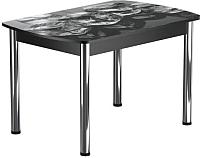 Обеденный стол Васанти Плюс БРФ 120/152x80Р/ОЧ (хром/98) -