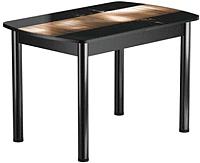 Обеденный стол Васанти Плюс БРФ 110/142x70Р/ОЧ (черный/112) -