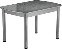 Обеденный стол Васанти Плюс БРФ 100/132x60Р/ОА (алюминий/капли серые) -