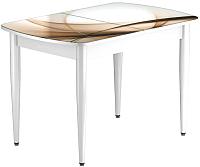 Обеденный стол Васанти Плюс БРФ 100/132x60/1Р/ОБ (белый/111) -
