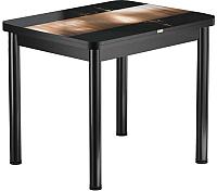 Обеденный стол Васанти Плюс ПРФ 80x60/120 РШ/ОЧ (черный/112) -