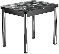 Обеденный стол Васанти Плюс ПРФ 80x60/120 РШ/ОЧ (хром/98) -