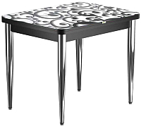 Обеденный стол Васанти Плюс ПРФ 80x60/120 РШ/к/ОЧ (хром/122) -