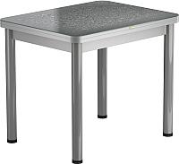 Обеденный стол Васанти Плюс ПРФ 80x60/120 РШ/ОА (алюминий/Капли серые) -