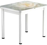 Обеденный стол Васанти Плюс ПРФ 90x70/140 РШ/ОБ (белый/120) -