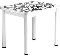 Обеденный стол Васанти Плюс ПРФ 90x70/140 РШ/ОБ (белый/122) -