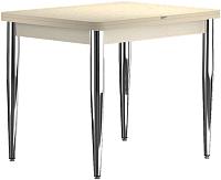 Обеденный стол Васанти Плюс ПРД 80x60/120 РШ/к/О (бежевый хром/бежевый) -