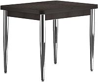Обеденный стол Васанти Плюс ПРД 80x60/120 РШ/к/ОК (хром/коричневый) -