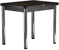 Обеденный стол Васанти Плюс ПРД 80x60/120 РШ/ОЧ (хром/черный) -