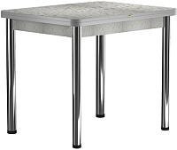 Обеденный стол Васанти Плюс ПРД 80x60/120 РШ/ОА (хром/алюминий) -