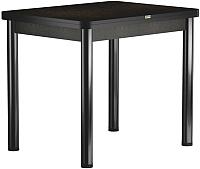 Обеденный стол Васанти Плюс ПРД 90x70/140 РШ/ОЧ (черный/черный) -