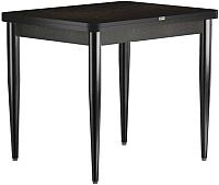 Обеденный стол Васанти Плюс ПРД 90x70/140 РШ/к/ОЧ (черный/черный) -