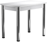 Обеденный стол Васанти Плюс БРП 120/152x80 Р/ОБ (хром/белый) -