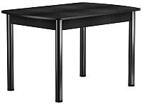 Обеденный стол Васанти Плюс БРП 120/152x80 Р/ОЧ (черный/черный) -