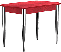 Обеденный стол Васанти Плюс БРП 120/152x80/1Р/ОКр (хром/красный) -