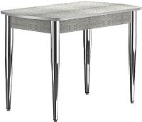 Обеденный стол Васанти Плюс БРП 120/152x80/1Р/ОА (хром/алюминий) -