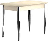 Обеденный стол Васанти Плюс БРП 100/132x60/1Р/О (бежевый хром/бежевый) -