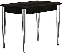 Обеденный стол Васанти Плюс БРП 100/132x60/1Р/ОЧ (хром/черный) -