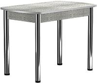 Обеденный стол Васанти Плюс БРП 100/132x60 Р/ОА (хром/алюминий) -