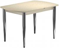 Обеденный стол Васанти Плюс БРП 120x80/3К/О (бежевый хром/бежевый) -