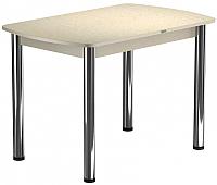 Обеденный стол Васанти Плюс БРП 120x80/3/О (бежевый хром/бежевый) -