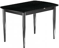 Обеденный стол Васанти Плюс БРП 120x80/3К/ОЧ (хром/черный) -