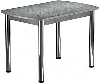 Обеденный стол Васанти Плюс БРП 120x80/3/ОА (хром/алюминий) -