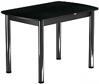 Обеденный стол Васанти Плюс БРП 110x70/3/ОЧ (хром/черный) -
