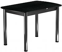 Обеденный стол Васанти Плюс БРП 100x60/3/ОЧ (хром/черный) -